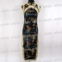 Bridesmaid Party Dress Cheongsam Black