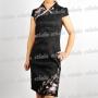 Butterfly Sleeveless Mini Dress Cheongsam