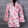 China Floral Shirt Top Blouse Botton Pink