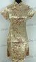 Chinese Cheongsam Mini Dress Gold