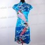 Chinese Cheongsam Peacock Noble Mini Dress