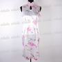 Chinese Cheongsam Floral Mini Dress White