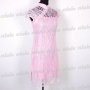 Chinese Cheongsam Mini Dress 2pc Set Pink