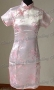 Chinese Cheongsam Mini Dress Pink