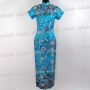 Chinese Cheongsam Evening Long Gown Blue