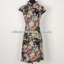 Chinese Chic Floral Cheongsam Mini Dress