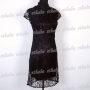 Chinese Elegant Mini Dress 2pcs Set Black