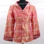 Chinese Elegant Floral Long Jacket Pink