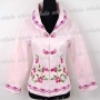 Chinese Embroidery Floral Jacket Top Pink