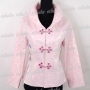 Chinese Embroidery Jacket Floral Top Pink