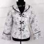 Chinese Embroidery Floral Jacket Silver