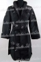 Chinese Embroidery Long Jacket Black