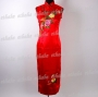 Chinese Flower Cheongsam Evening Gown Red