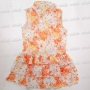 Chinese Girl's Elegant Cheongsam Mini Dress Orange