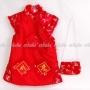 Chinese Girls Cheongsam Mini Dress w/ Purse Red
