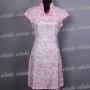 Chinese Mini Dress Chi-pao Cheongsam Pink