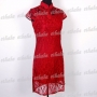 Chinese Party Prom Mini Dress 2pc Set Red