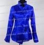Chinese Phoenix Shirt Top Sapphire Blue