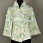 Chinese Style Womens Floral Jacket Elegant Blazer Slim Coat Gree