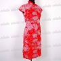 Chinese Wedding Cheongsam Mini Dress Red