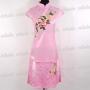 Chinese Wedding Cheongsam Mini Dress Pink