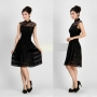Chinese Women Girl Mini Cheongsam Evening Dress/Qipao