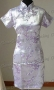 Elegant Cheongsam Mini Dress Lavender