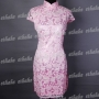 Floral Chinese Cheongsam Mini Dress Pink