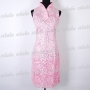 Floral Chinese Mini Dress Cheongsam Pink