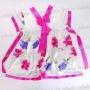 Girls Flower Korean Hanbok Mini Dress Skirt Rose