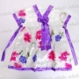 Girls Flower Korean Hanbok Mini Dress Skirt Purple
