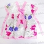 Girls Flowery Korean Hanbok Mini Dress Skirt Pink