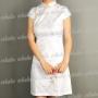 Pure China Rose Mini Cheongsam Dress