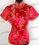 Royal Top Shirt Bridesmaid Blouse Red