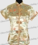 Royal Tunic Top Shirt Satin Blouse Gold