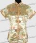 Royal Tunic Top Shirt Satin Blouse Gold
