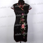 Tradition Lady Mini Dress Cheongsam Black