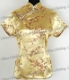Tunic Top Shirt Pullover Satin Blouse Gold