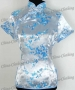 Tunic Top Shirt Pullover Blouse Light Blue