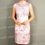 Unique Short Sleeve Mini Dress Cheongsam