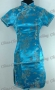 Wedding Cheongsam Mini Dress Lake Blue