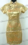 Wedding Royal Cheongsam Mini Dress Gold