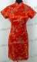 Wedding Royal Cheongsam Mini Dress Red