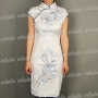 Women Flower Mini Cheongsam Dress
