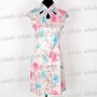 Women Traditional Cheongsam Evening Mini Dress